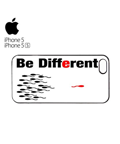 Be Different Sperm Mobile Cell Phone Case Cover iPhone 5c Black Blanc