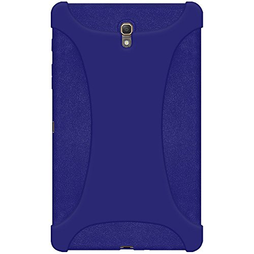 Amzer Exclusive Skin Jelly, Custodia Cover in Silicone per Samsung GALAXY Tab S 8,4 SM-T700, colore: blu