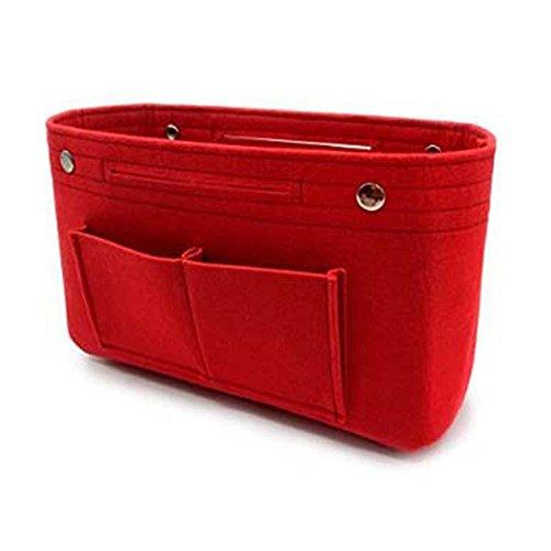 Aolvo borsa organizer in feltro, borsetta per cosmetici, trucchi, borsetta portaoggetti da donne