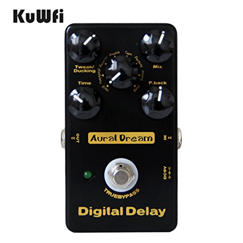KUWFI AURAL DREAM PEDAL DE EFECTO DIGITAL DIGITAL DELAY CINCO PERILLAS DE RETARDO DIGITAL PEDAL DE GUITARRA
