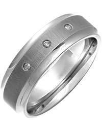 Theia 0.06 ct Diamond 7 mm Flat Court Titanium Matt Ring