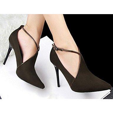 Moda Donna Sandali Sexy donna tacchi tacchi Estate Felpa casual Stiletto Heel altri nero / rosso / grigio chiaro / mandorla / Burgundy / Khaki Altri Burgundy