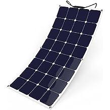 GIARIDE 12V 18V 100W Pannello Solare Sunpower Cella Flessibile Portatile Impermeabile Fotovoltaico Modulo Carica Batterie Connettore MC4 per Tetto, RV, Barca, Camper, Roulotte, Auto, Batteria 12V
