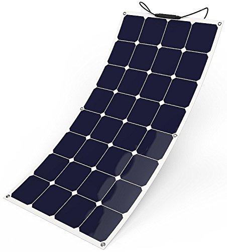 GIARIDE 100W Solarpanel 12V 18V Solarmodul Sunpower Solarzelle Flexibel Photovoltaik Solarladegerät Solaranlage für Wohnmobil, Autobatterie, Gartenhaus, Boot,12V Batterien