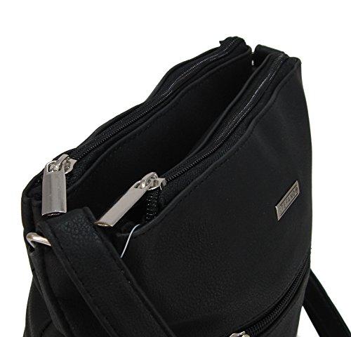 a4eab742dacde ... STEFANO moderne Damen Umhängetasche Schultertasche Frauen Handtasche  soft PU verschiedene Modelle M1 - Taupe