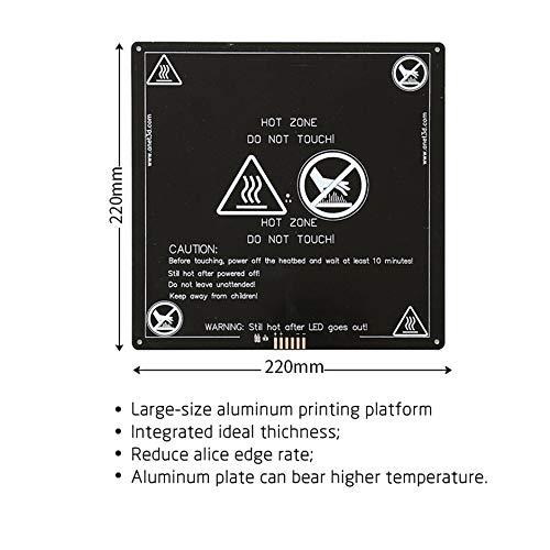 Anet A6 A8 E10 E12 Letto riscaldato in alluminio con linea per Mendel RepRap i3 3d (bianco e nero)