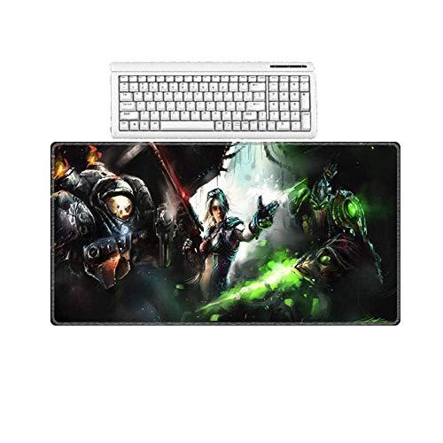 Mauspad Matte Mauspad for Gaming Große Größe High Speed   High Precision 2 Rechteckigen Slip Mauspad 300X600X2 Mm Gamers Mousepad Home Office Computer Desktop (Color : 400X900X2MM) -