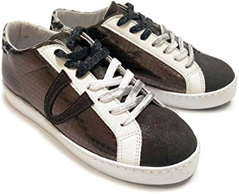 scarpe da ginnastica Donna in Crosta di Camoscio Laminata, Pelle e Materiale Sintetico Marronee (Made in , Edizione Limitata... | Acquisti online  | Scolaro/Ragazze Scarpa