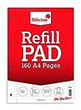 William Sinclair Silvine Refill - Paquete de 6 recambios para cuaderno de hojas rayadas A4, rojo