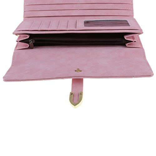 MagiDeal Borsa Raccoglitore Della Frizione Porta Carte di Credito per Donne Sposa - Blu Rosa