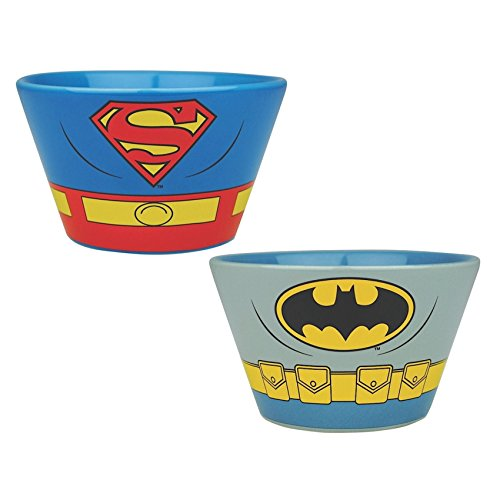n 2Schalen aus Keramik–Batman & Superman Kostüm (Man Of Steel 2 Batman Kostüm)