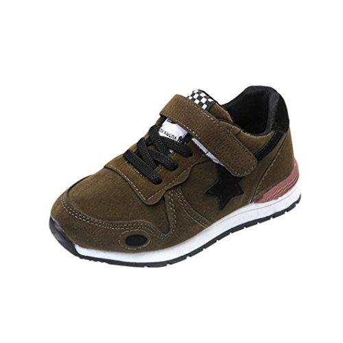 FNKDOR Baby Kinder Laufschuhe Jungen Mädchen Mesh Schuhe Turnschuhe Sneaker (22, Grün)