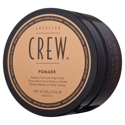 American Crew Pomade with Medium hold and High Shine for Men - 3 oz by Crew
