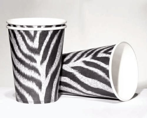 EBRA * für Party und Geburtstag von DH-Konzept // Becher Partybecher Party Fete Set Mottoparty Wilde Tiere Safari Dschungel (Zebra-geburtstags-party)