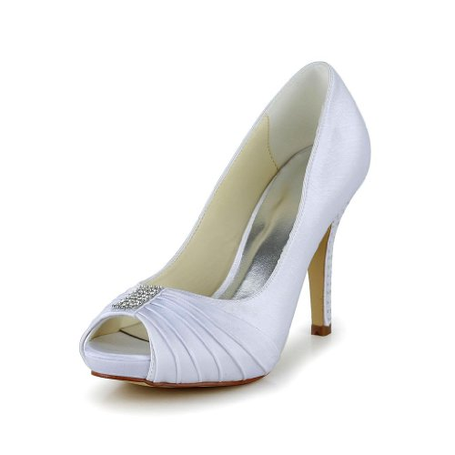 Jia Jia Wedding 37012Q Scarpe Sposa Scarpe col tacco donna Bianco