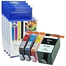 4 Pack Compatibile per HP 920XL Cartucce d'inchiostro 1x Nero 1x Ciano 1x Magenta 1x Giallo CON CHIP per HP officejet 6000 6500 6500A 7000 7500 7500A