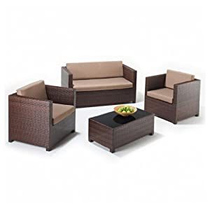 416D cK9wuL. SS300  - Hf4you Furniture 4 Piece Lounge Set 2 Armchairs 2 Seater Sofa Glass Top Coffee Table