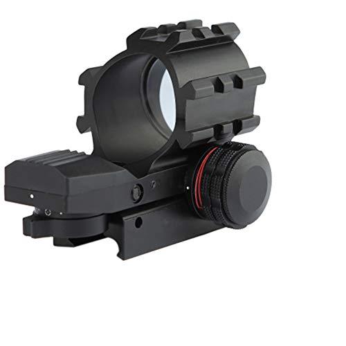 YODZ Rotpunktvisier Holographisches taktisches Zielfernrohr Abnehmbare obere DREI Spuren verstellbares Absehen für 20mm Weaver/Picatinny-Schienenmontage und Weaver-Steckplätze