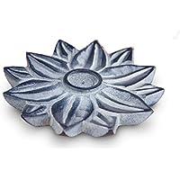 Räucherstäbchenhalter Lotus Ø 10 cm aus Speckstein grau, Räucherteller Stäbchenhalter Halter zum Räuchern Räucherstäbchen... preisvergleich bei billige-tabletten.eu