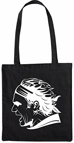 Mister Merchandise Tote Bag Roger Federer Borsa Bagaglio , Colore: Nero Nero