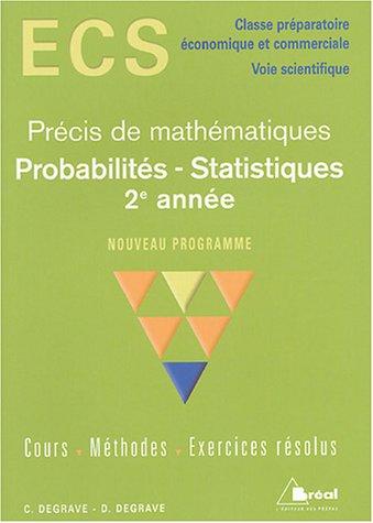 Probabilités - Statistiques 2e année ECS