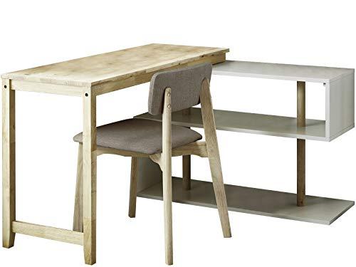 Loft 24 A/S Schreibtisch mit Stuhl Arbeitstisch Laptop Computertisch Schreibtisch-Set Büromöbel Naturholz Modernes Design