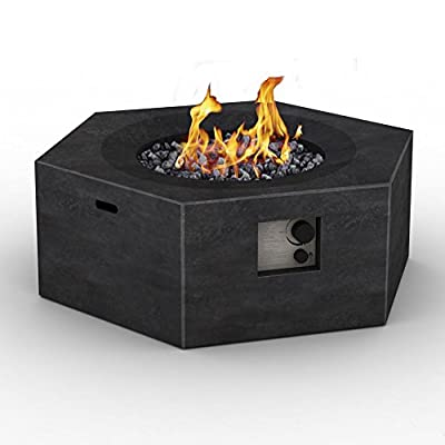 Foremost Outdoor Gas Hexagonal Fire Pit Table