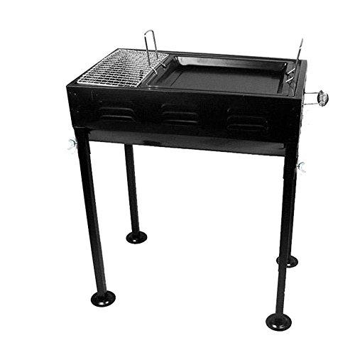 Home Outdoor Picknick Portable Holzkohle Stahlplatte Kaltwalzwerk Barbecue Grill Ofen , black