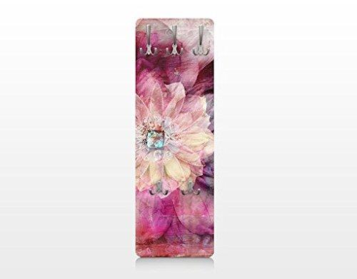 Apalis 67515 Wandgarderobe Grunge Flower | Design Garderobe Garderobenpaneel Kleiderhaken Flurgarderobe Hakenleiste Holz Standgarderobe Hängegarderobe | 139x46cm