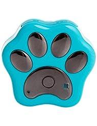 MagiDeal Rf-V30 Wasserdicht LED Wifi GPS Tracker Locator Finder Ortungsgerät Tierortung Outdoor für Haustier Katze Hund Kragen - Blau