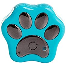 MagiDeal Rf-v30 GPS de Mascotas Impermeable Wifi Perseguidor de Perros de Gatos Collar de Localizador 3 Colores - Azul