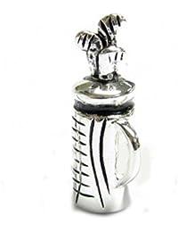 Queenberry Sterling Silber Golf Tasche europäischen Stil Charm Bead