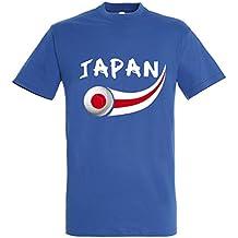 Supportershop – Camiseta Japón Hombre, Azul Royal, ...