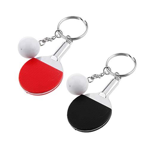 SM SunniMix Tischtennis Schläger Mini Schläger Anhänger Schlüsselanhänger Für Tasche, Geldbörse -
