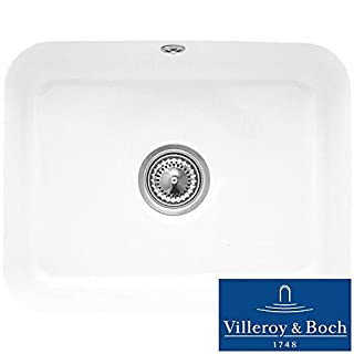 Villeroy & Boch Cisterna 60c 1.0 Bowl White Ceramic Undermount Sink - NO WASTE