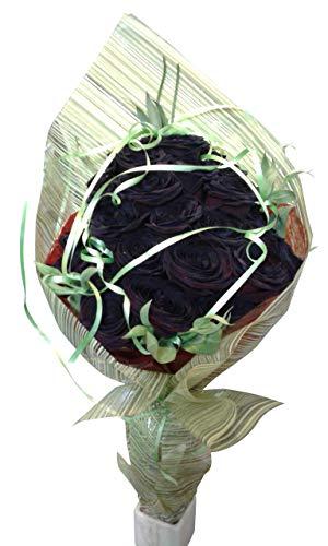 Ramo de rosas negras naturales a domicilio con envío y nota dedicatoria incluidos en el precio