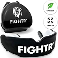 FIGHTR Premium Protector bucal | máx. oxígeno y protección + adaptación simple| Protector bucal sin BPA + embalaje Incluido| Boxeo, AMM, Muay Thai, Rugby