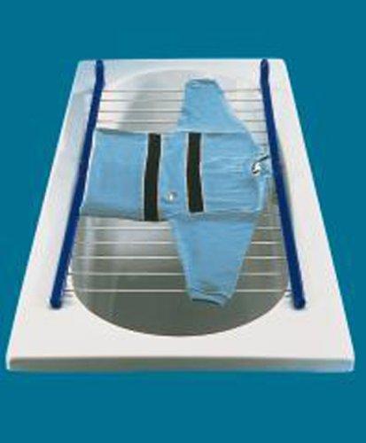 Leifheit Pegasus Bath 110 - Tendedero de bañera, color azul