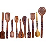 GTC Cooking And Serving Spoon (Wooden, Set Of 10)