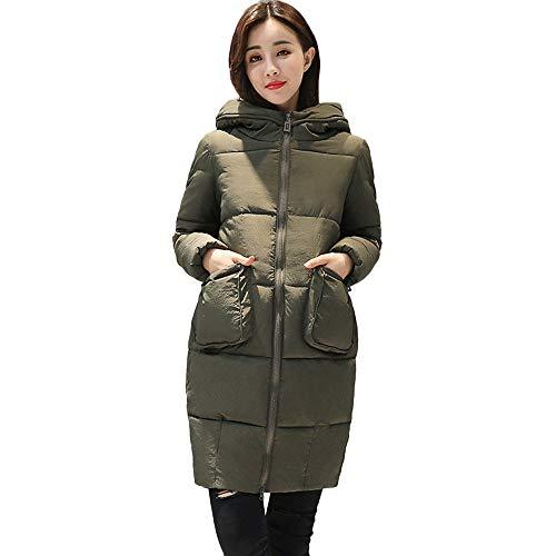 Ghemdilmn Damen Winterjacke Wintermantel Lange Daunenjacke Jacke Outwear Frauen Winter Warm Daunenmantel Solide Lässig Dicker Winter Slim...
