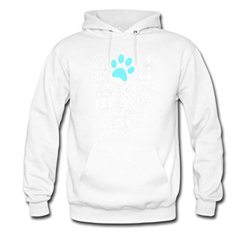 HGLee Printed DIY Custom Dog Mom AF Womens Hoodie Hooded Sweatshirt White--2