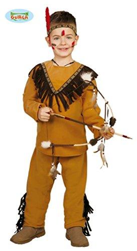 KINDERKOSTÜM - INDIANER - Größe 110-115 cm ( 5-6 Jahre ), Wilder Westen Cowboy Indianer Winnetou Amerika (Cowboy Hut Helm)