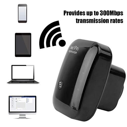 Wifi 300 Mbit/S, Wlan-SignalverstäRker Mit Expander-UnterstüTzung FüR Repeater/Access Point-Mini-Router (Wps, Einfach Zu Installieren, 1 Ethernet-Anschluss, Integrierte Antenne, 2,4 Ghz) 4-zonen Expander