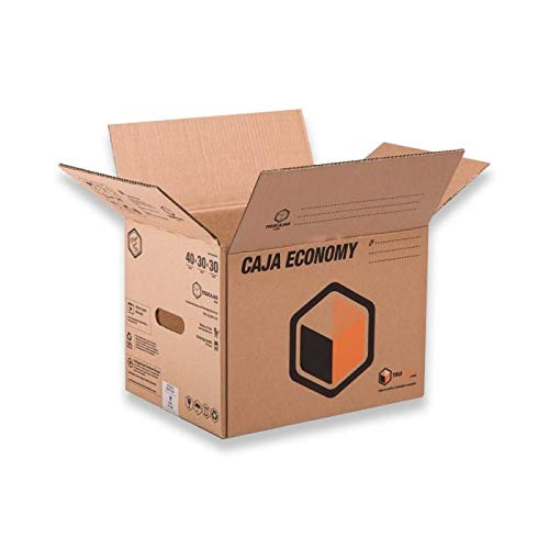 (x10) Cajas de Cartón Mudanzas y Almacenaje Canal Simple - Lote de 10 unidades (40x30x30 cms) TeleCajas