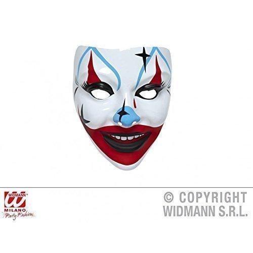 Lively Moments Einfache Gesichtsmaske Clown Maske großer roter ()