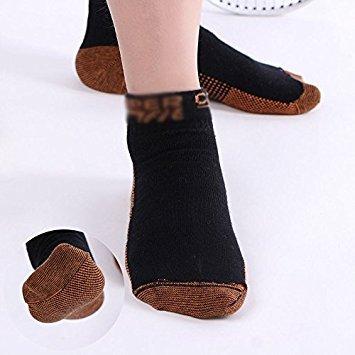zooarts® 1Paar antibakteriell Athletic Low Cut Sport Socken für Männer und Frauen ohne Karton, schwarz, S/M (Schwarz Athletic Schuhe Arbeiten)