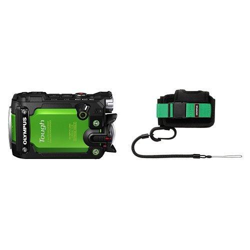 "Olympus TG-Tracker - Cámara de Acción DE 7.2 MP (Pantalla abatible DE 1.5"", GPS, WiFi, estabilizador de 5 Ejes, Video 4K) Color Verde + Portacámaras CSCH-125 TG"