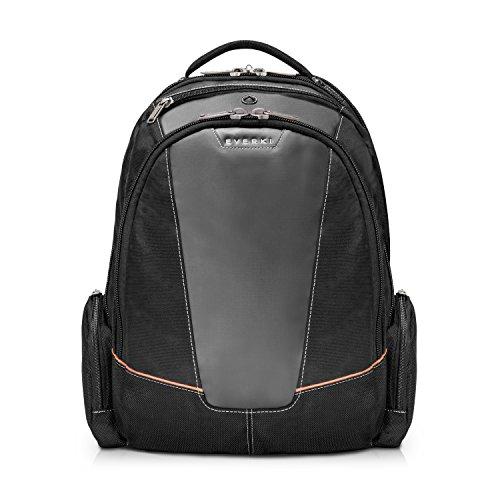 Everki Flight - Laptop Rucksack für Notebooks bis 16 Zoll (40,6 cm) mit durchdachtem Fächer-Konzept, weich gefüttertem iPad / Tablet-Fach und weiteren hochwertigen Funktionen, Schwarz