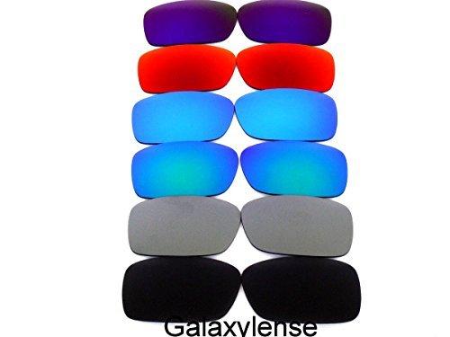 Ersatzgläser Für Oakley Kurbelgehäuse Polarisierend Schwarz/Grau/Blau/Grün/Rot/Lila - Transparent, Regulär