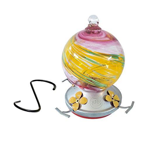 Best Home Produkte Kolibri Feeder, mundgeblasenes Glas, Summertime Swirl, 3Tassen -